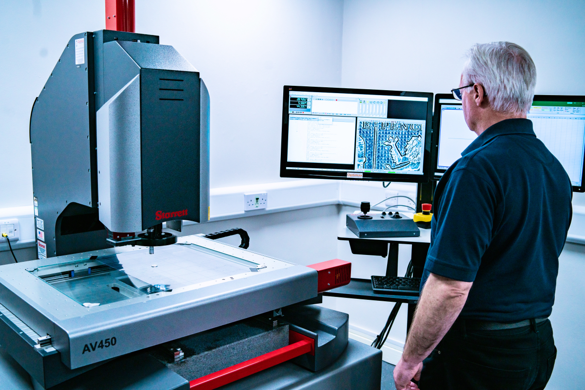 Cmm inspection of injection moulded rubber